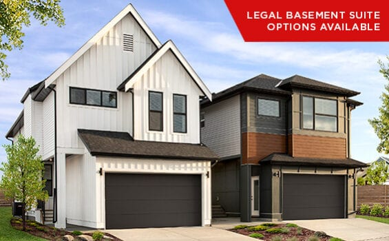 Modern Double Front Garage Single Family Homes