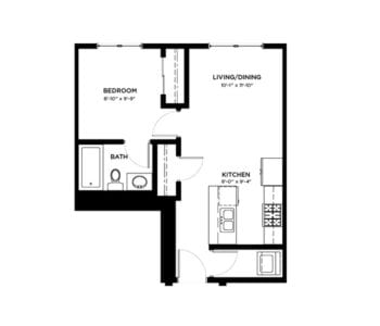 1 Bedroom Condos Building A & B