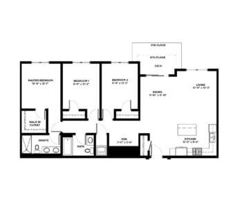 3 Bedroom Condos Building C