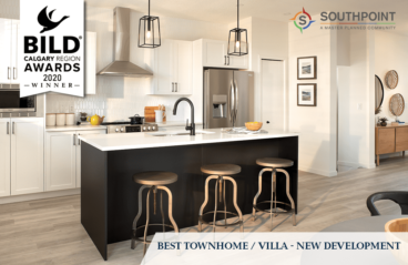 SOUTHPOINT TOWNHOME WINNER OF 2020 BILD AWARD!